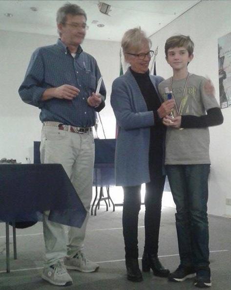 Matteo premiato da Rita Gramignani