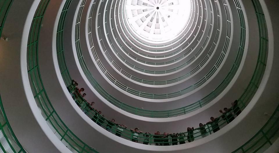 I corsisti all'interno della Torre Marina